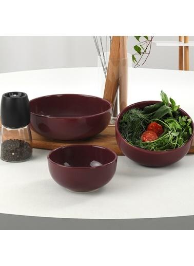 Keramika Keramika 3 ParÇa Mürdüm Nordic Kera Bulut Salata Çerez Seti Renkli